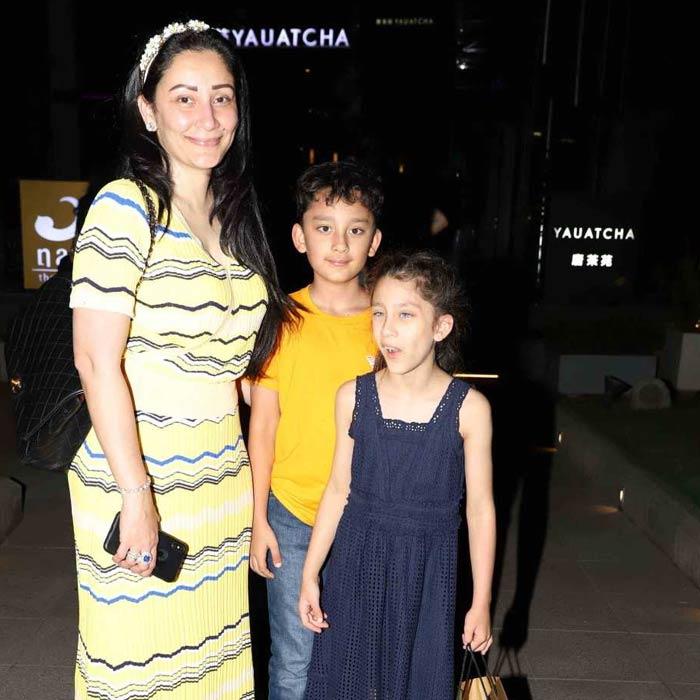 मान्यता दत्त ने बच्चों शाहरान और इकरा के साथ मनाया अपना जन्मदिन