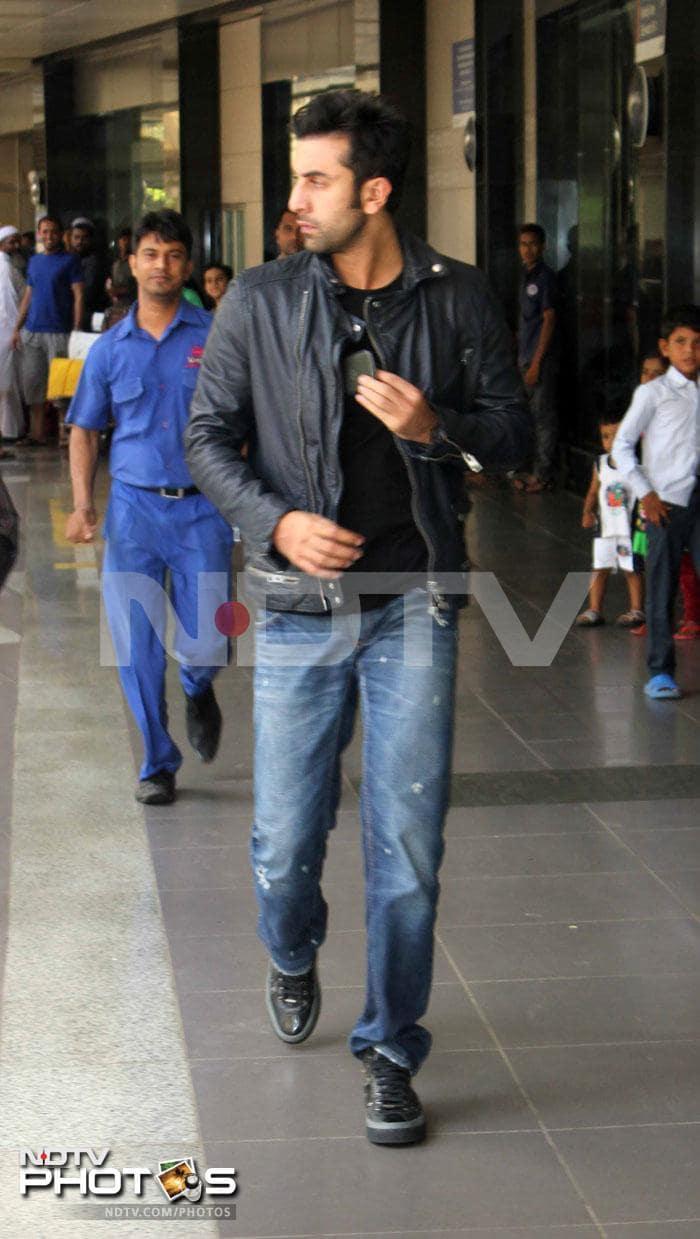 Airport sighting: Ranbir, Aditya