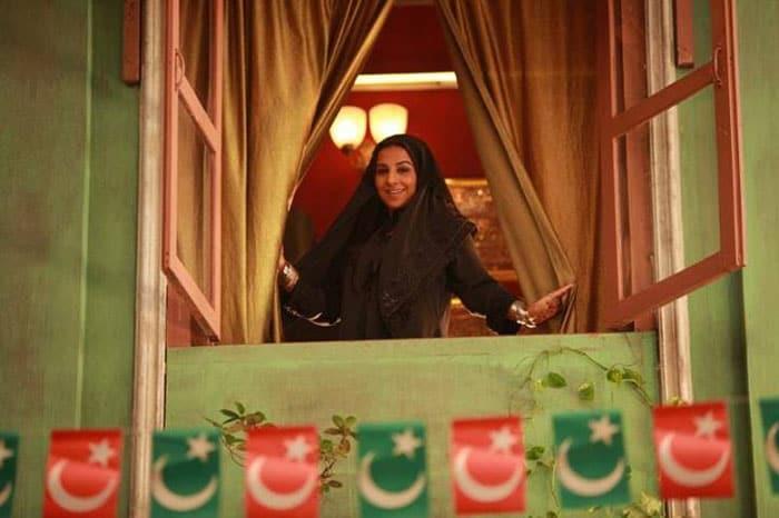 Ooh la la, that\'s Vidya in a burqa!
