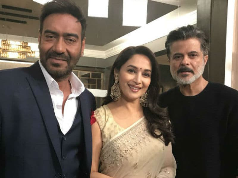 Madhuri Dixit Recreates 90s' Magic With Anil Kapoor And Ajay Devgn