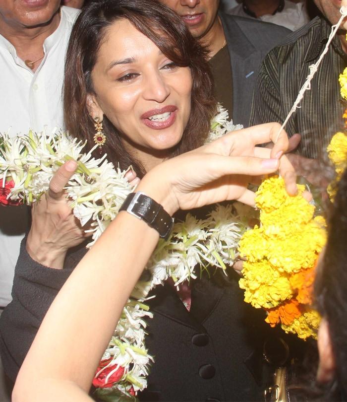 Madhuri Dixit returns to India