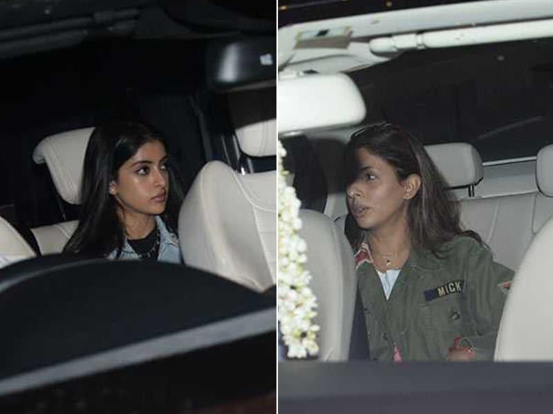Navya And Shweta Bachchan Cheer For Meezaan And Sharmin At Malaal Screening