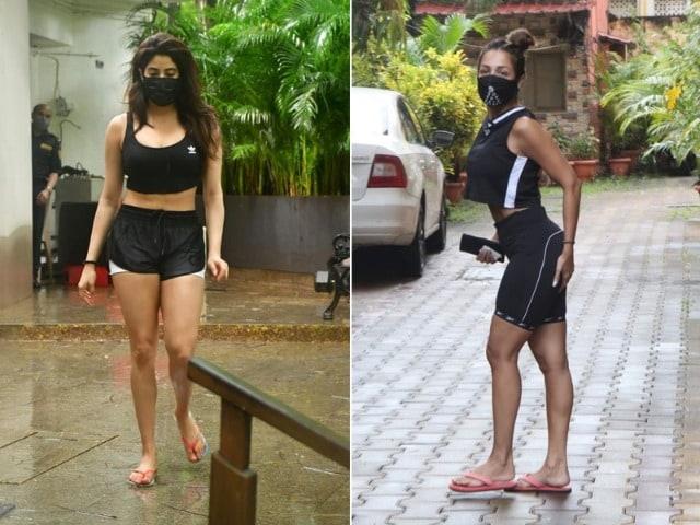 Photo : Malaika Arora And Janhvi Kapoor Have The Best Gym Style