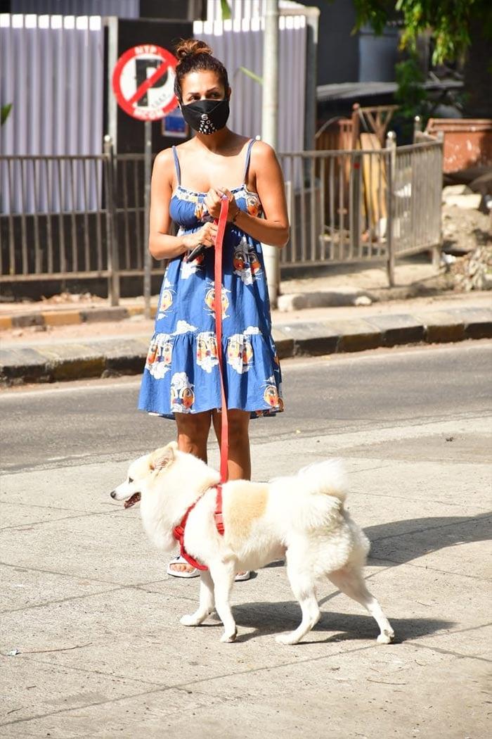 Malaika Arora Takes Pet Dog Casper Out For A Walk