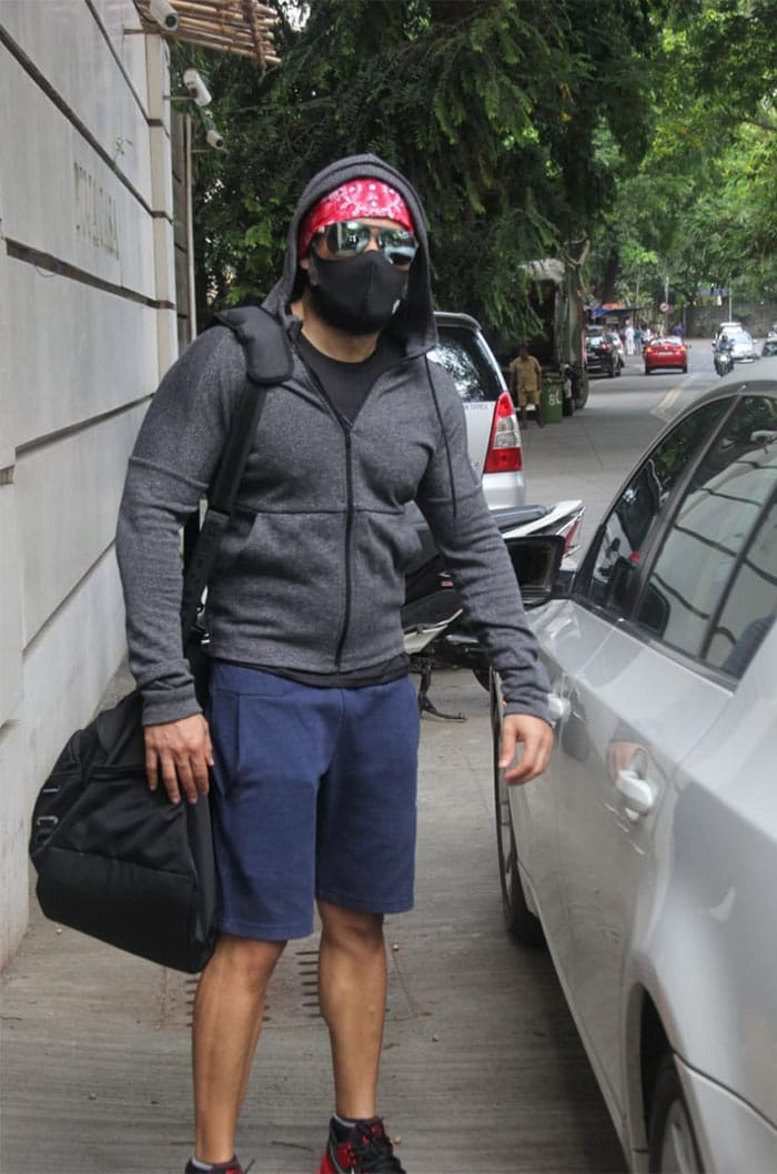 Actor Emraan Hashmi was photographed outside his gym.