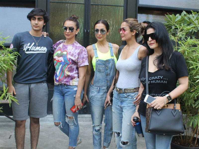 Malaika Arora's Lunch Date With Son Arhaan And Her Pals