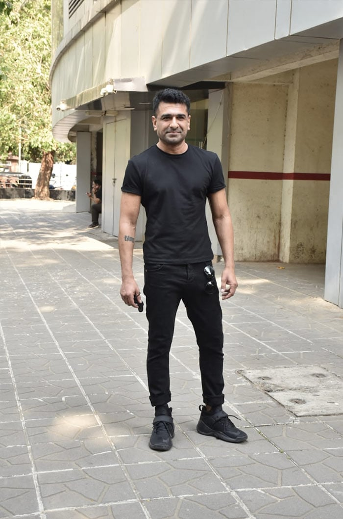 Bigg Boss 14 contestant and TV actor Eijaz Khan was photographed outside a dubbing studio in Andheri.