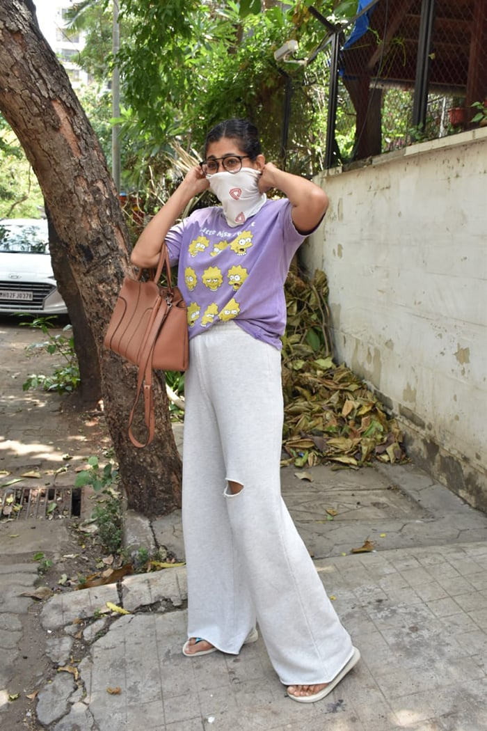 Kubbra Sait was spotted outside a clinic in Juhu.