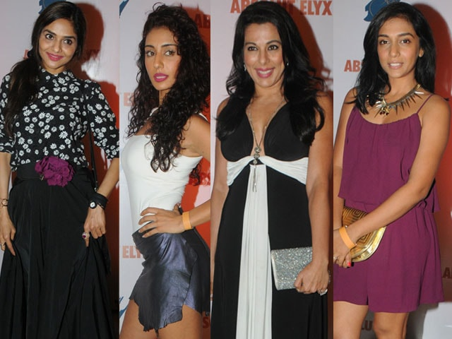 Party girls: Madhoo, Mahek, Pooja, Shweta