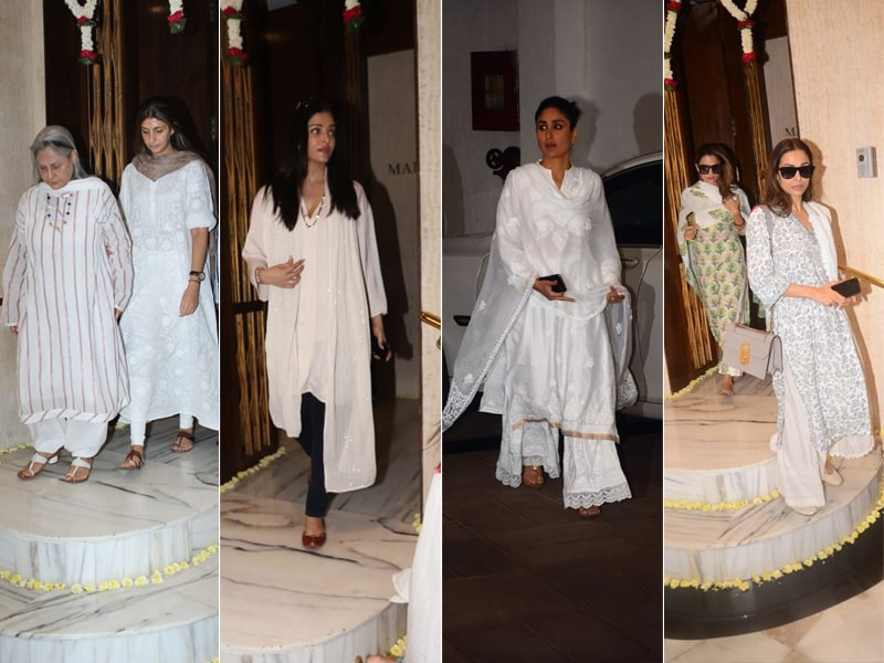 The Bachchans, The Kapoors, Malaika Arora, Shilpa Shetty And Others Bid Manish Malhotra's Father An Emotional Farewell