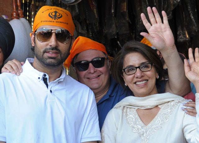 Two Kapoors and a Bachchan at the Golden Temple