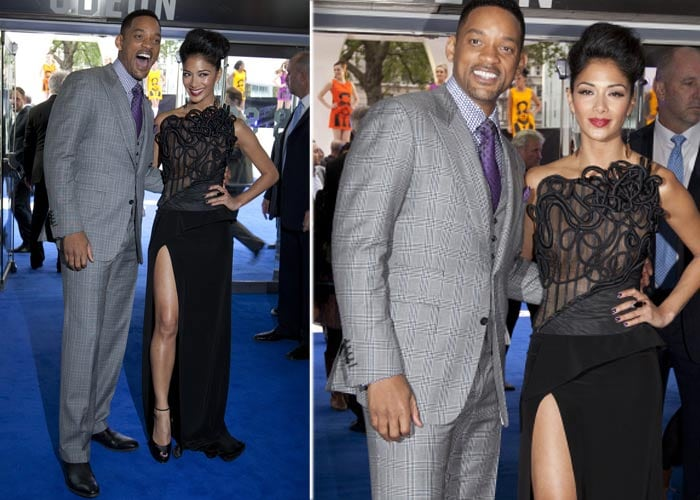 Now, Nicole\'s right leg steals the show at MIB 3 premiere