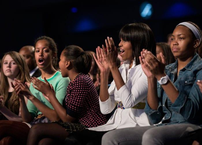 Teenage Dream: Obama girls rock with Katy Perry