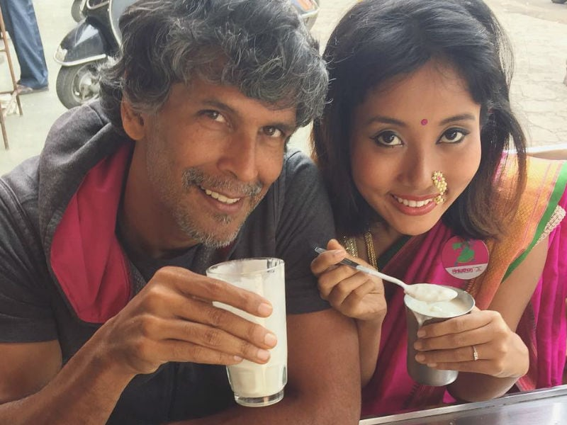 11 Pics Of Milind Soman And Girlfriend Ankita Konwar
