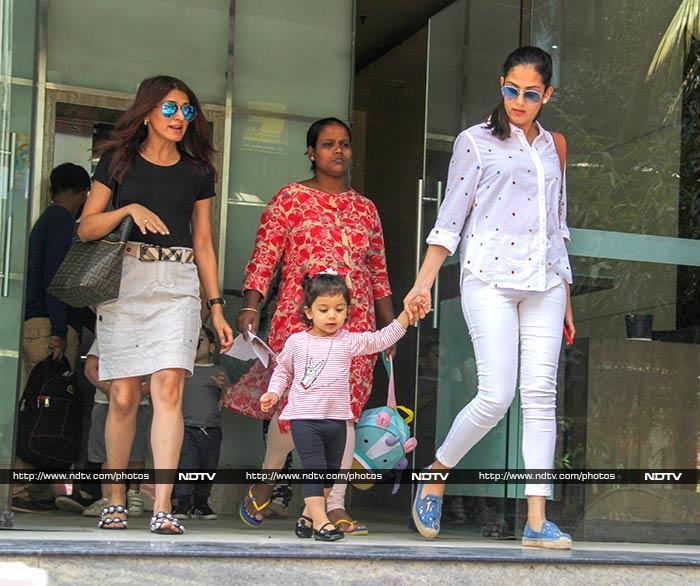 Mira Rajput Picks Up Daughter Misha From Playschool