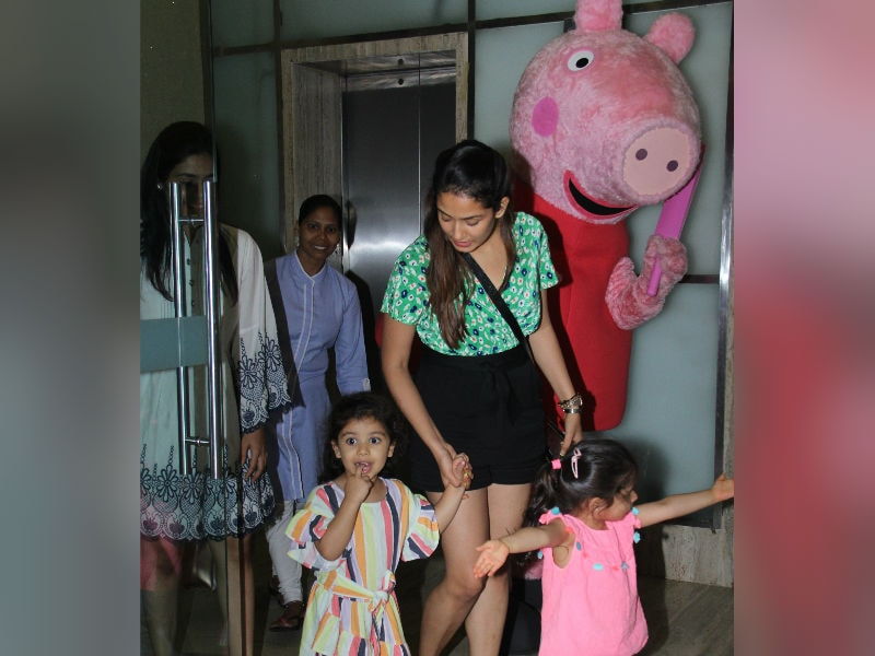 Misha And Mira Rajput Hang Out With Peppa Pig And Pals