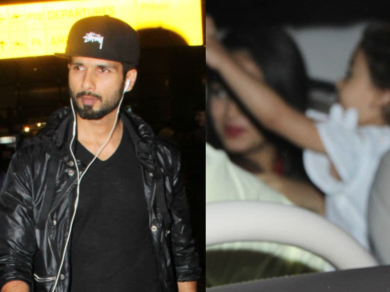 Shahid Kapoor Returns. Excited, Misha Received Her Dad