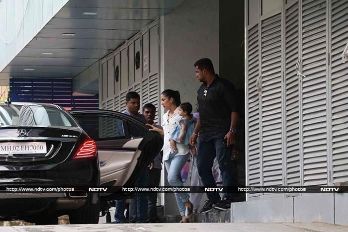 Baby\'s Day Out: Misha Spotted With Mommy Mira
