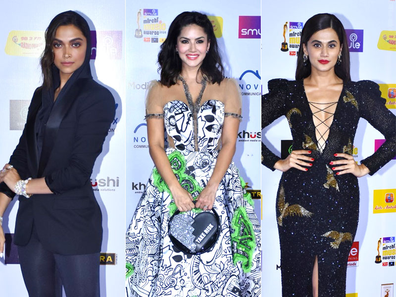 Mirchi Music Awards 2020: Deepika Padukone, Taapsee Pannu and Sunny Leone Make Us Go Wow