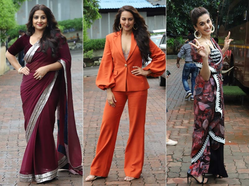 Vidya Balan, Sonakshi Sinha And Taapsee Pannu Promote Mission Mangal In Style