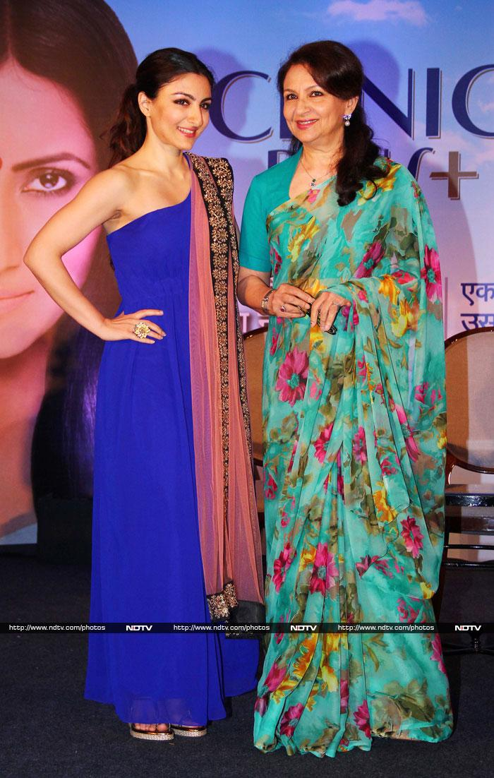 An Evening in Mumbai with Sharmila and her daughter
