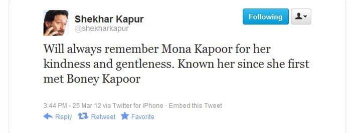 Celebs condole Mona Kapoor\'s death on Twitter