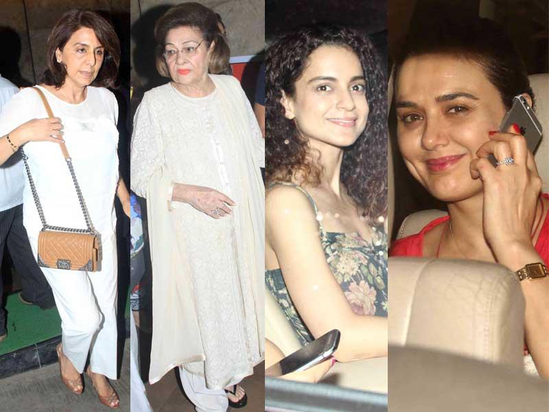 The Kapoors, Kangana and Preity Watch Ranbir's Bombay Velvet