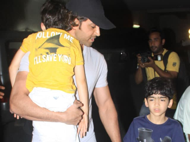 Hrithik Roshan's Movie Outing with Sons