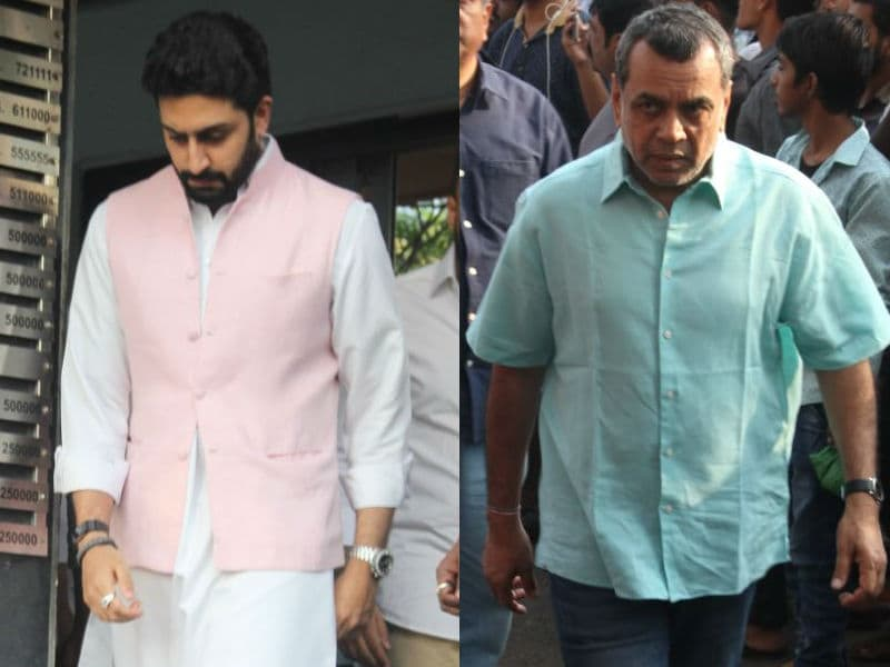 Abhishek Bachchan, Paresh Rawal Attend Neeraj Vora's Funeral