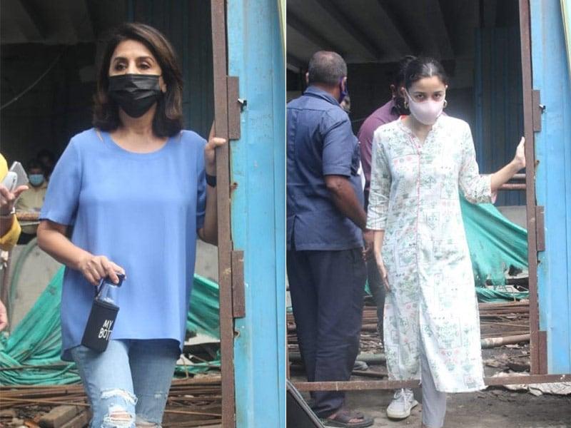 Photo : Neetu Kapoor And Alia Bhatt Check On Status Of Under-Construction Krishna Raj Bungalow