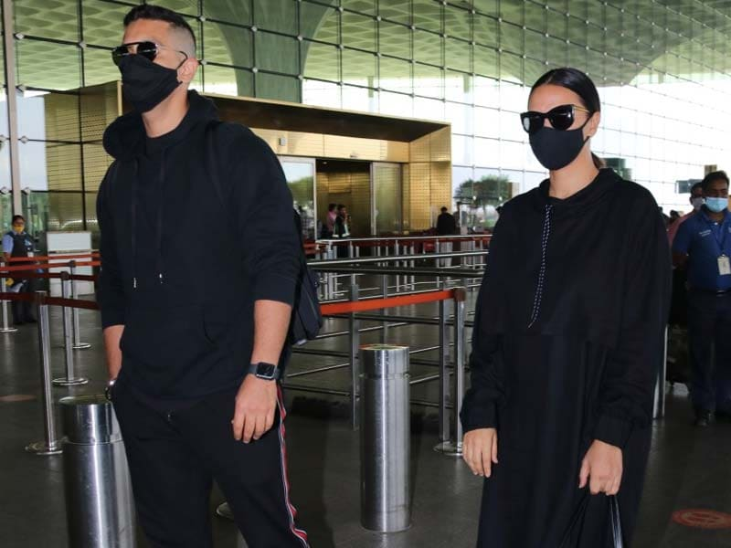 Neha And Angad Travel In (Almost) Matching Black