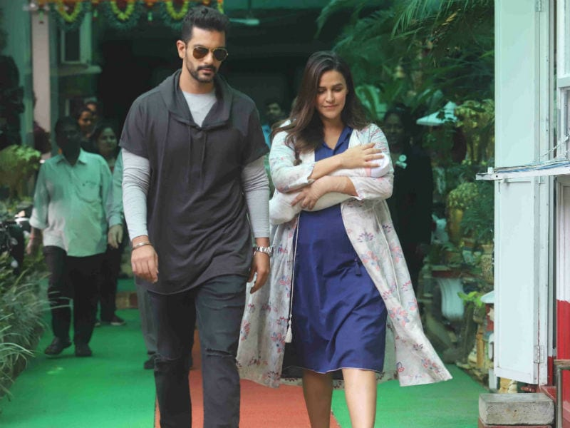 Neha Dhupia And Angad Bedi Take Baby Mehr Home