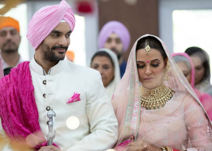 Image result for neha dhupia wedding pics