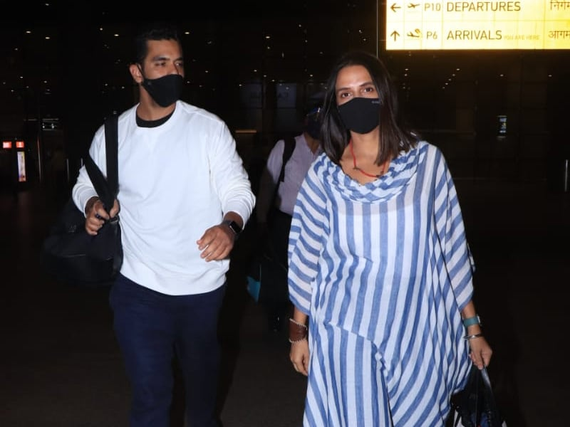 Neha Dhupia And Angad Bedi's Airport Diaries