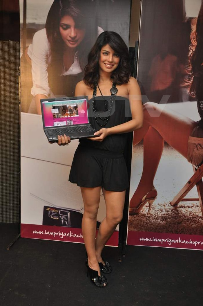 Priyanka launches her official website