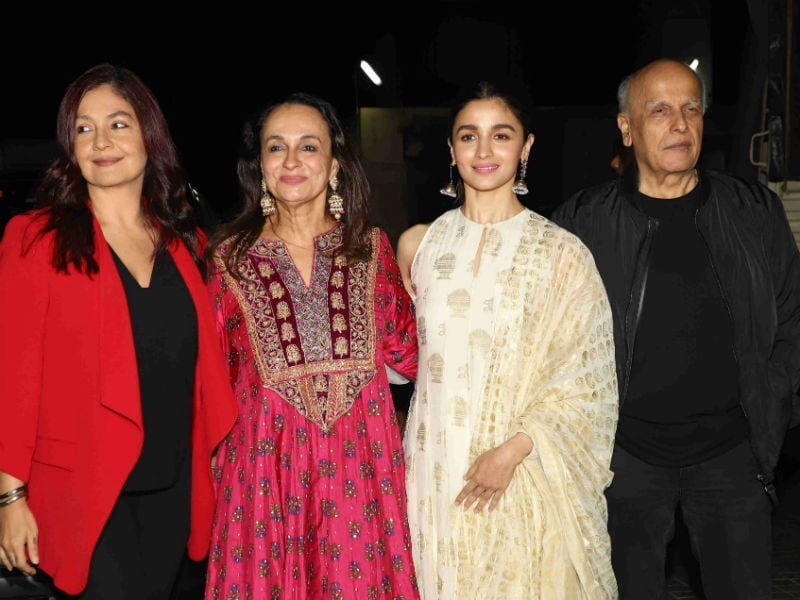Alia And Pooja Bhatt Watch Soni Razdan's Film With Mahesh Bhatt