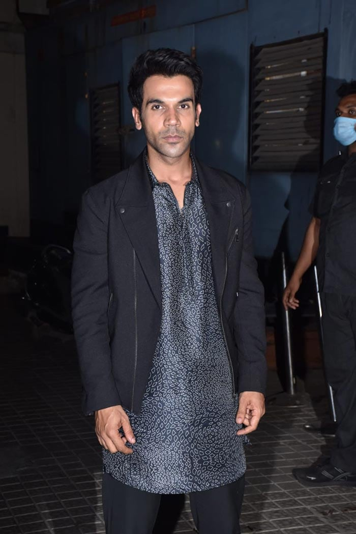 Actor Rajkummar Rao was pictured at the screening of his upcoming film Roohi on Tuesday.
