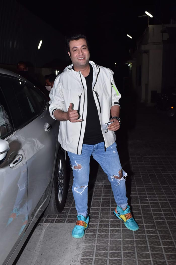Actor Varun Sharma was also present at the screening of his film.