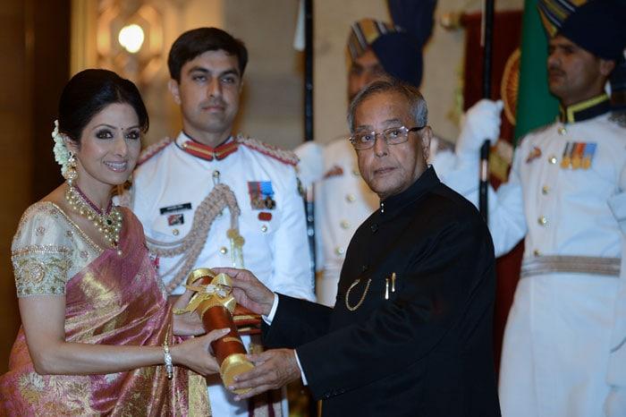 Sridevi, Sharmila Tagore receive Padma Honours