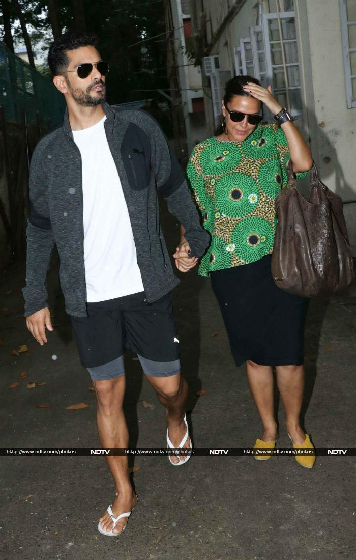Neha Dhupia And Angad Bedi\'s Day Out