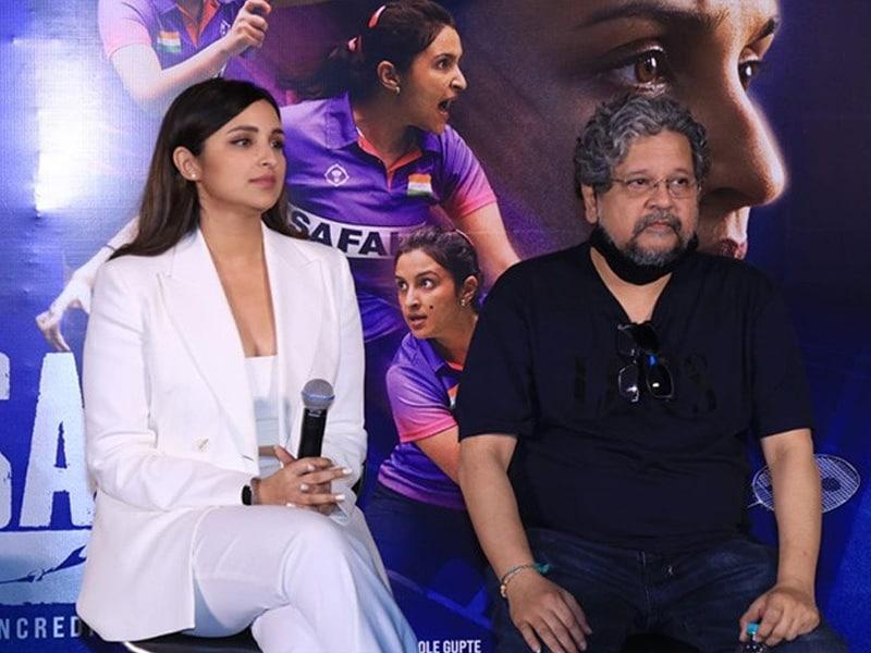 Photo : Parineeti Chopra Suits Up Like A Boss For Saina Trailer Launch
