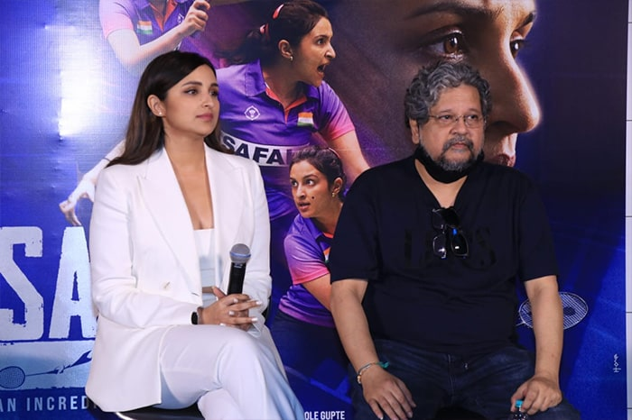 Director Amole Gupte was also present at the event.