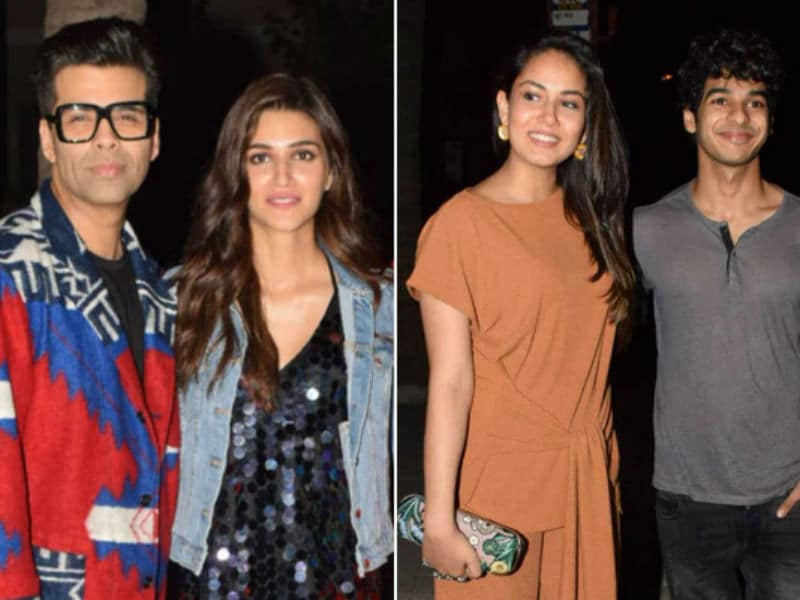 Kriti Sanon, Karan Johar, Mira Rajput, Ishaan Khatter Rock The Party