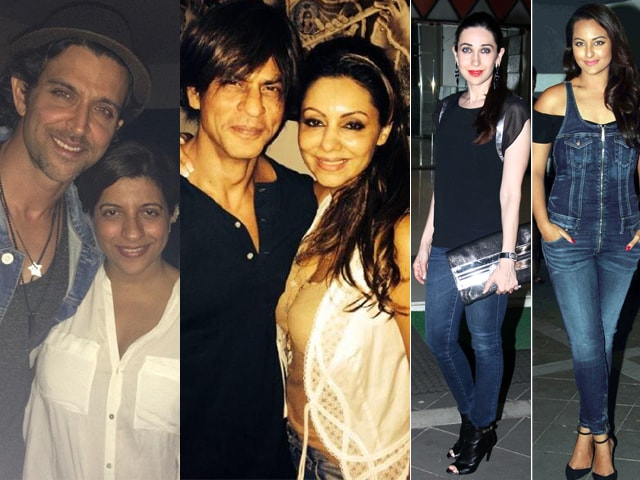 Hrithik, SRK, Sonakshi, Karisma Celebrate Gauri's Birthday