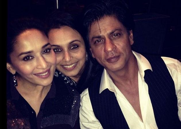 Photo : Three musketeers: SRK, Madhuri, Rani