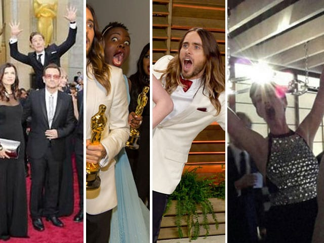 Oscar Photobombers: Starring Sherlock, U2, Lupita, Jared, Anne and a Beatle