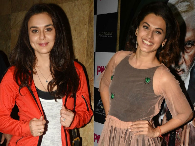Preity Zinta, Kriti Sanon Paint Bollywood Pink With Taapsee