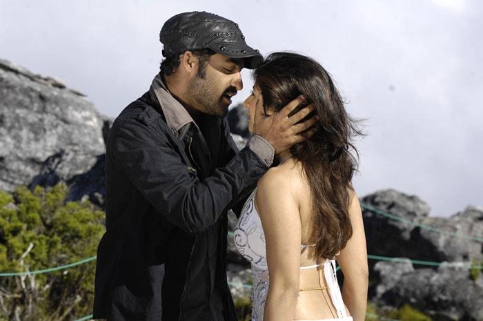 Jr. NTR, Tanisha romance in Pokkiri Paiya