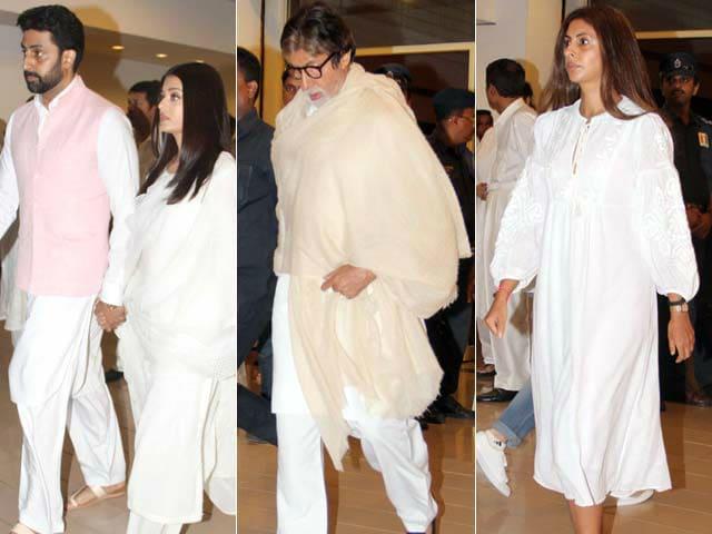 The Bachchans And The Khans At Vinod Khanna's Prayer Meet