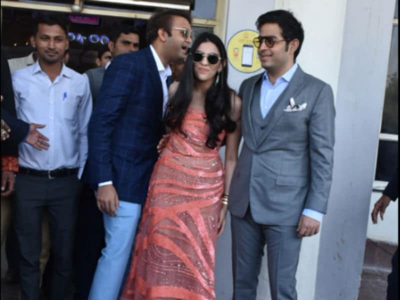 Akash Ambani, Shloka Mehta Join Parents Nita And Mukesh Ambani In Jodhpur For Priyanka And Nick's Wedding